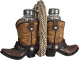 Cowboy Boots with Rope Salt & Pepper Set by Rivers Edge