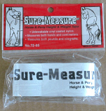 Tough 1 Sure Measure Height and Weight Tape by JT International