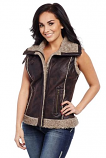 Women's Faux Sherpa Lined And Trimmed Vest By Cripple Creek