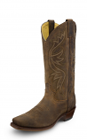 Men's Classic Brown Narrow Square Toe Boot by Justin Boots
