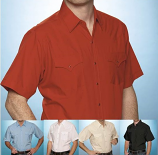 Men's Solid Color Short Sleeve Shirts by Ely Cattleman