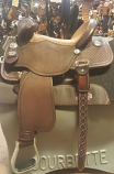 """14"""" Full Bison Tan Seat Gardian by Martin Saddlery"""