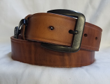 "Men's 1 1/2"" Creased Edge Brown Western Belt by 3D"