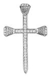 Sterling Silver Horseshoe Nail Cross by Kelly Herd