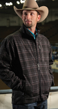 Men's Black Plaid Bonded Jacket By Cinch