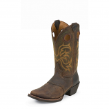 Men's Dark Brown Rawhide Boot by Justin