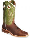 Men's Bent Rail Cognac Cowboy Boots Square Toe by Justin