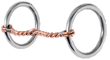 "Loose Ring Snaffle-3/8"" Twisted Copper"
