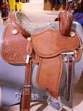 "14"" Crown C with Antique Elephant Full Seat by martin Saddlery"