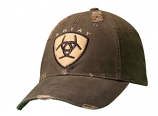 Men's Brown Vintage Ariat Logo Ball Cap by Ariat