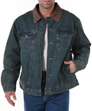 Mens Wrangler Blanket Lined Denium Jacket