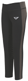 Kid's Ventilated Black and Charcoal Schooling Tights by JPC Equestrian