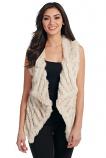 Women's Stone Rabbit Fur Vest by Cripple Creek
