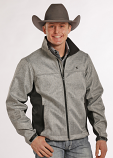 Men's Tuf Cooper Bonded Herringbone Soft Shell Performance Jacket by Panhandle Slim