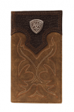 Rodeo Brown Wallet with Boot Stitch Shield