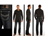 Men's Relaxed Fit Straight Leg Dark Wash Jeans by Rock and Roll Cowboy