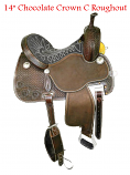 "14"" Chocolate Crown C Roughout by Martin Saddlery"