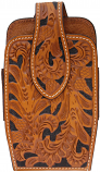 Large Hand Tooled Leather Smart Phone Holder by 3D