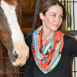 """Women's """"Lila"""" Southwestern Infinity Scarves by AWST- Available in Multiple Colors"""