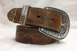 "Women's 1 1/2"" Distressed Brown Fat Baby Belt by Ariat"