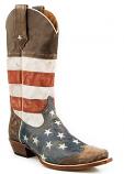 Men's American Flag Snip Toe Boot by Roper