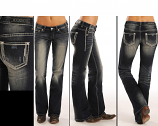 Women's Riding Jean with Chain Border Embroidery by Rock and Roll Cowgirl