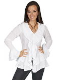 Women's White and Black Honey Creek Blouse by Scully