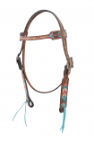 Hand Painted Arrow Browband by Bar H