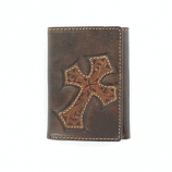 Trifold Diagonal Cross Wallet