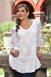Women's White Tunic Blouse by Peruvian Perfection