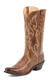 Women's British Tan Deertanned Cow Boot by Nocona