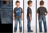 Boy's Medium Wash BB Gun Boot Cut Jeans by Rock and Roll Cowboy