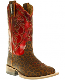 Kid's Leopard Print Square Toe Boot by Cinch
