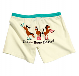 "Junior Style ""Shake Your Booty"" Boxers by Lazy One"
