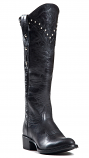 Women's Knee High Black Boot with Studs by Johnny Ringo