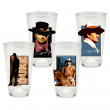 John Wayne 4 pc. 16 oz. Glass Set by Vandor