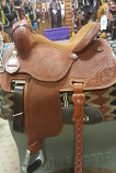 """14"""" Crown C Cervi with Toast Suede Seat by Martin Saddlery"""