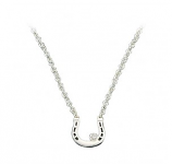 Small Horseshoe with Crystal Necklace by Montana Silversmiths
