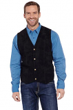Men's Snap Front Boar Suede Vest by Cripple Creek