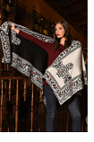 Women's Reversible Alpaca Cape by Peruvian Perfection- Multiple Colors Available