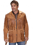 Men's Boar Suede Fringe Coat by Scully