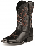 Kid's Tombstone Black Deertan Boot by Ariat
