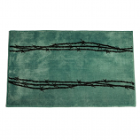 Barbwire Bath Mat by HiEnd Accents (More Colors Available)