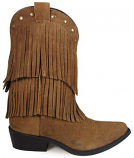 Kid's Wisteria Brown Suede Fringe Boot by Smoky Mountain Boots