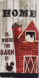 """Home Is Where The Barn Is"" Terry Towel by Kay Dee Designs"