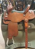 """13 1/2"""" Black Bison Seat Guardian Saddle by Martin Saddlery"""