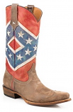 Men's Rebel Flag Snip Toe Boot by Roper