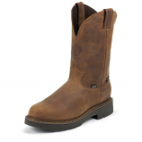 Men's Rugged Aged Bark Gaucho Waterproof Work Boot by Justin Orginal Workboots