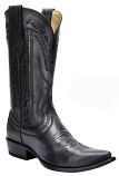 Men's Black Laser and Whip Stitch Snip Tow Boot by Corral