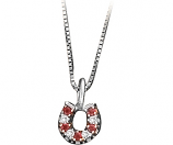 Womens Red Horseshoe Pendant by Kelly Herd